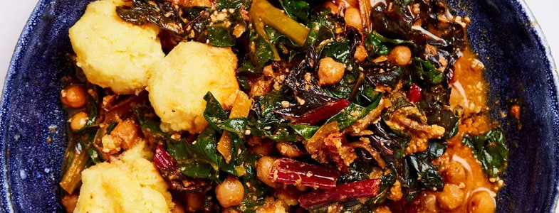 recette-vegetarienne-casserole-pois-chiches-blettes-polenta
