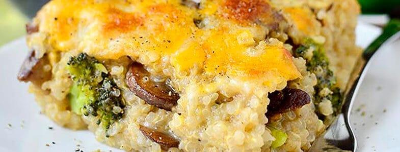 recette-vegetarienne-gratin-quinoa-brocoli-champignons