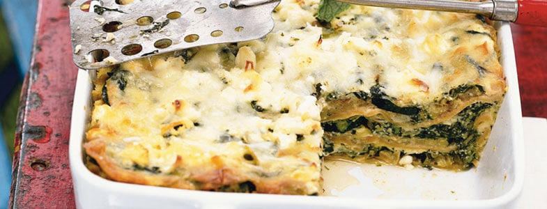 Lasagnes aux courgettes et trois fromages