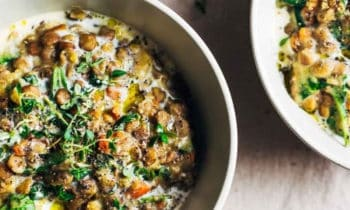 One pot lentilles et épinards