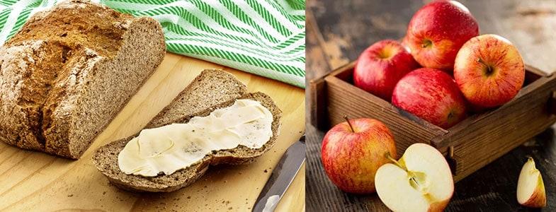 En-cas pain et fruit frais