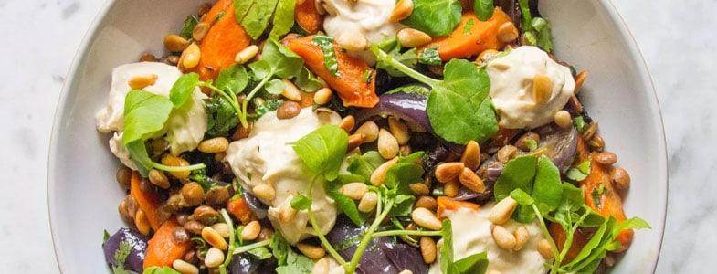 recette-vegetarienne-lentilles-carottes-roties-fromage-cajou