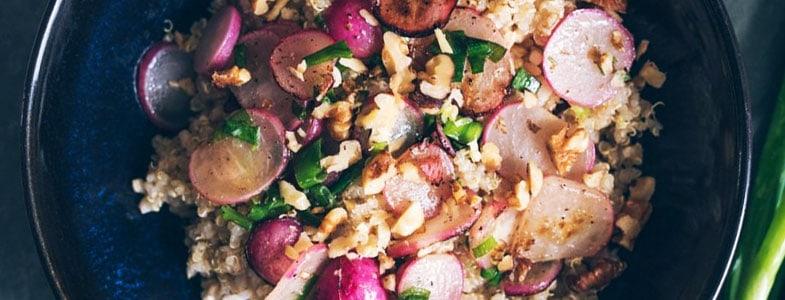 Quinoa et radis sautés