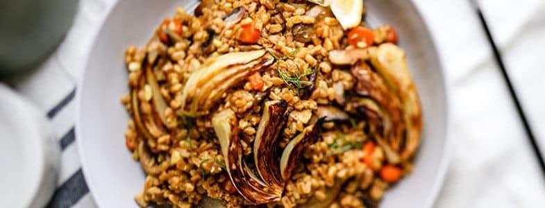 recette-vegetarienne-epeautre-fenouil-grille
