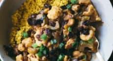 Millet au curry et chou-fleur épicé
