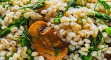 Orge aux asperges et champignons