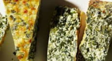Quiche ricotta cresson