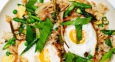Sauté de riz aux légumes de printemps