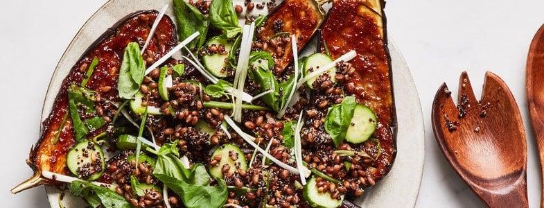 recette-vegetarienne-aubergines-glace-miso-seigle