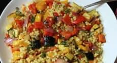 Couscous perlé aux légumes grillés