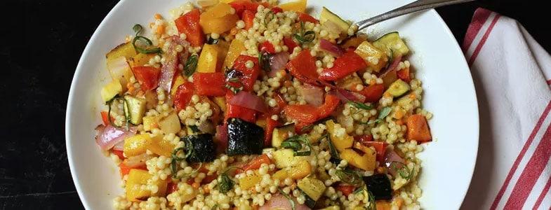 recette-vegetarienne-couscous-perle-legumes-grilles