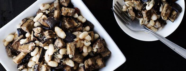recette-vegetarienne-haricots-blancs-aubergine-grillees