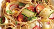 Linguine aux légumes croquants