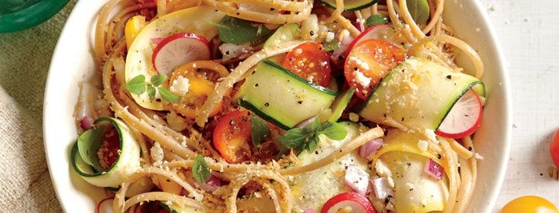 recette-vegetarienne-linguine-legumes-croquants