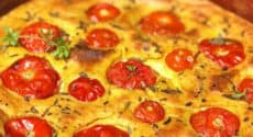 Clafoutis tomates basilic
