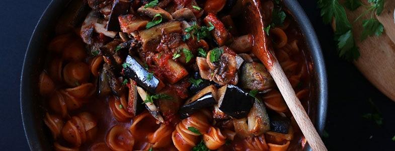recette-vegetarienne-one-pot-pasta-aubergines