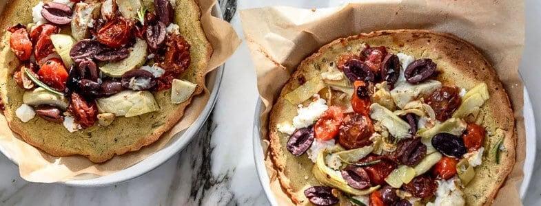 Pizza socca d'été