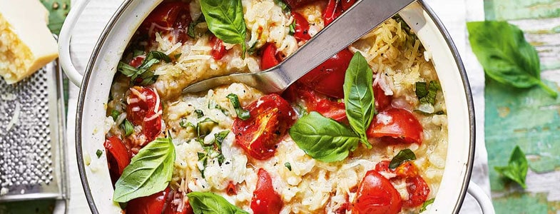 recette-vegetarienne-risotto-tomates-roties-basilic