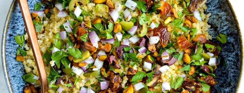 Salade de boulgour aux dattes et olives