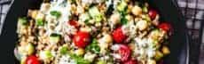 Salade d'épeautre aux pois chiches