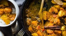 Curry de butternut et pommes de terre