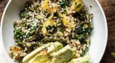 Salade chaude d'automne au quinoa