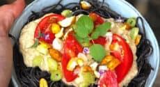 Spaghettis de haricots noirs, sauce thaï