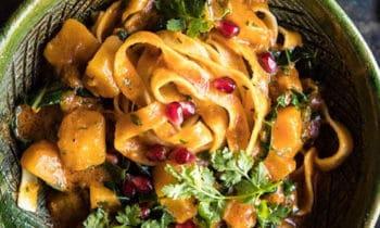 Tagliatelles au curry de courge et poivre Kampot