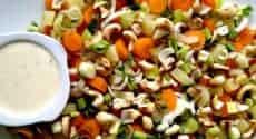 Salade carottes et noix de cajou