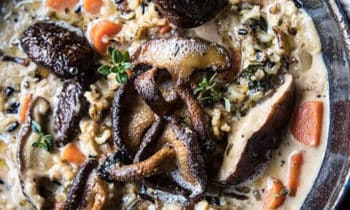Marmite de riz sauvage crémeux
