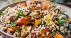 Quinoa aux légumes d'hiver rôtis