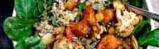 Buddha bowl au Boulgour, pois chiches et légumes rôtis