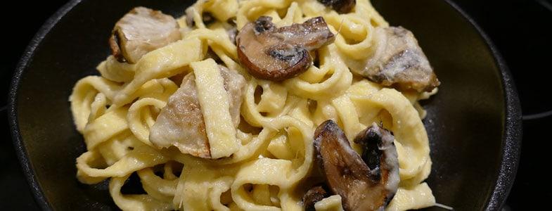 Fettuccini aux champignons et topinambours