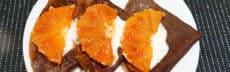 Crêpes vegan au chocolat et oranges sanguines