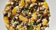 Salade de chou-fleur aux olives kalamata et orange
