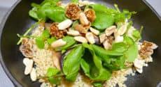 Quinoa aux champignons et cresson