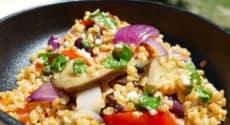 Petit épeautre aux légumes rôtis