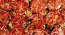 Gratin de riz, courgettes et tomates