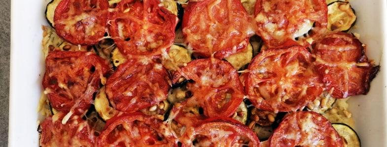recette-vegetarienne-gratin-riz-courgette-tomate