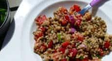 Salade boulgour lentilles façon taboulé