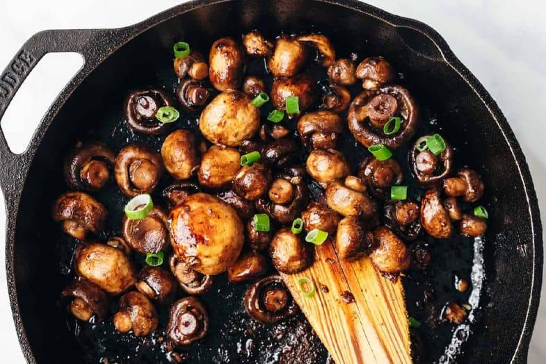 recette-vegetarienne-champignons-balsamique