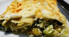 Lasagnes ricotta, poireaux et chou kale