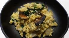 Risotto de millet aux blettes et champignons
