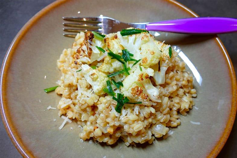 recette-vegetarienne-risotto-orge-chou-fleur