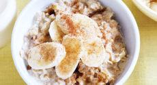 Porridge banane cannelle