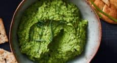 Houmous vert aux herbes