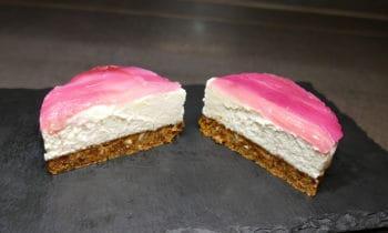 Cheesecake vegan à la rhubarbe