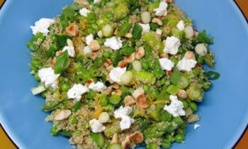 Salade de quinoa, asperges et petits pois