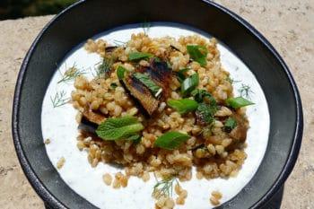 recette-vegetarienne-epeautre-aubergines-yaourt