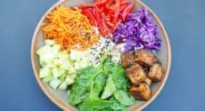 Vegan bowl d'été